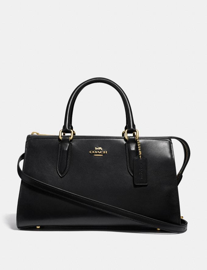 Coach Bond Bag Black/Gold New Featured Online-Only