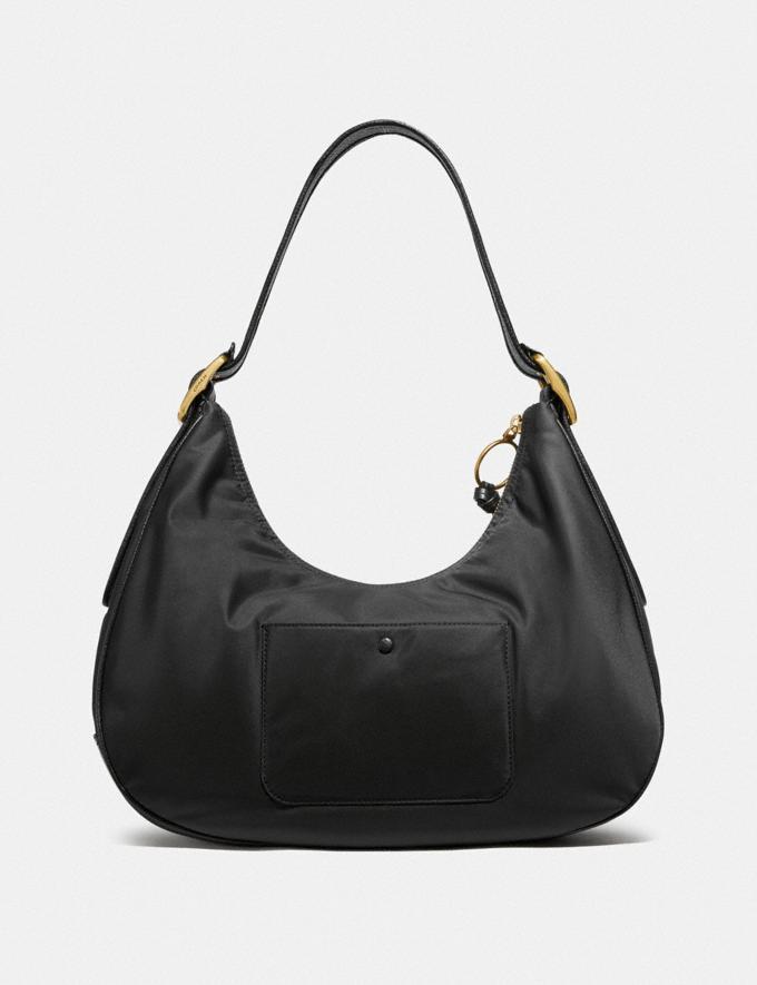 Coach Cargo Hobo With Vintage Rose Print Interior Brass/Black Women Handbags Shoulder Bags & Hobos Alternate View 2