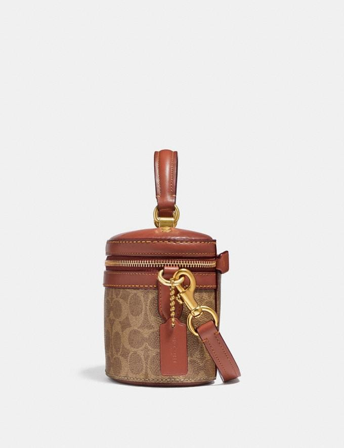 Coach Trail Bag in Signature Canvas Rust/Brass New Featured Signature Styles Alternate View 1