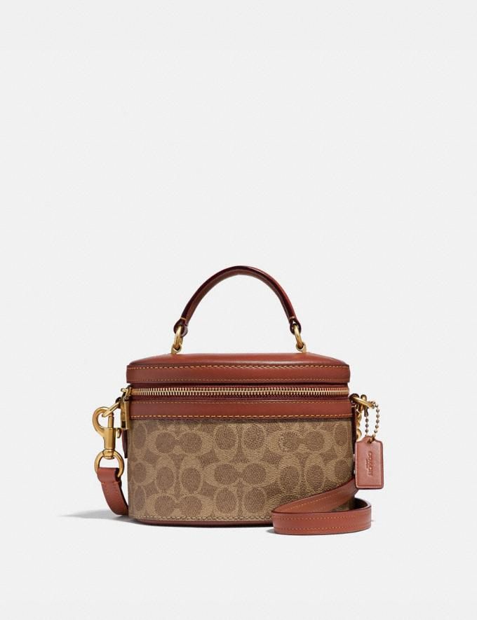 Coach Trail Bag in Signature Canvas Rust/Brass Women Bags Shoulder Bags