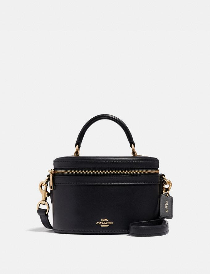 Coach Trail Bag Black/Gold Women Bags Shoulder Bags