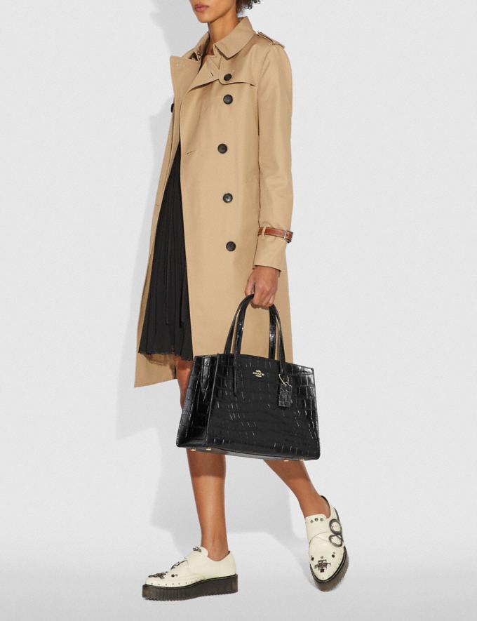 Coach Charlie Carryall Gold/Ink Women Handbags Satchels & Top Handles Alternate View 6