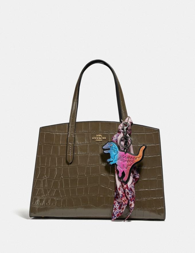 Coach Charlie Carryall Gold/Moss New Women's New Arrivals Bags Alternate View 3