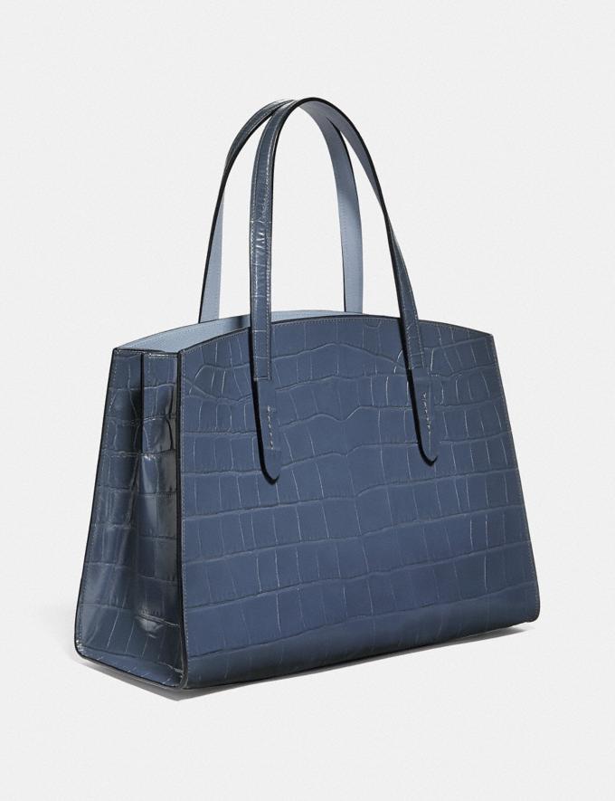 Coach Charlie Carryall Gold/Ink Women Handbags Satchels & Top Handles Alternate View 1