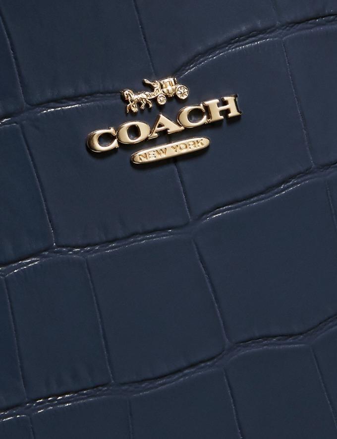 Coach Charlie Carryall Gold/Ink Women Handbags Satchels & Top Handles Alternate View 5