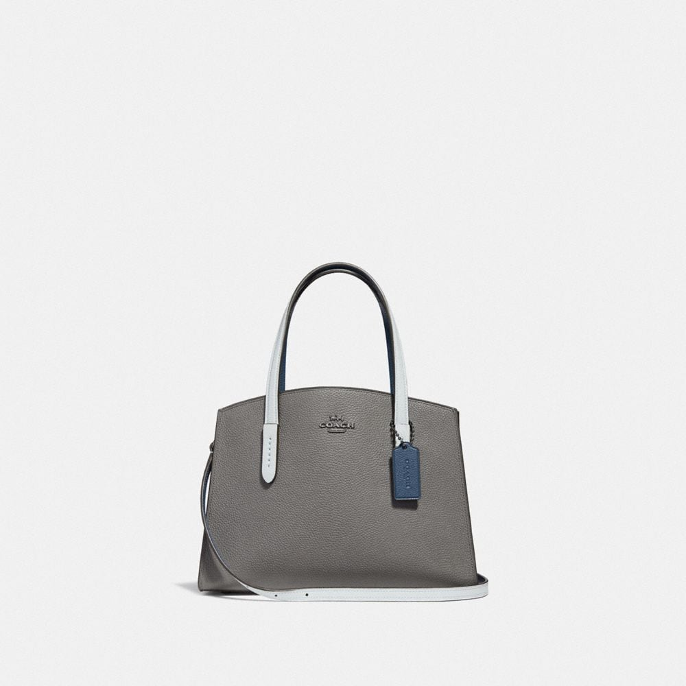 Coach Charlie Carryall 28 With Colorblock Snakeskin Detail