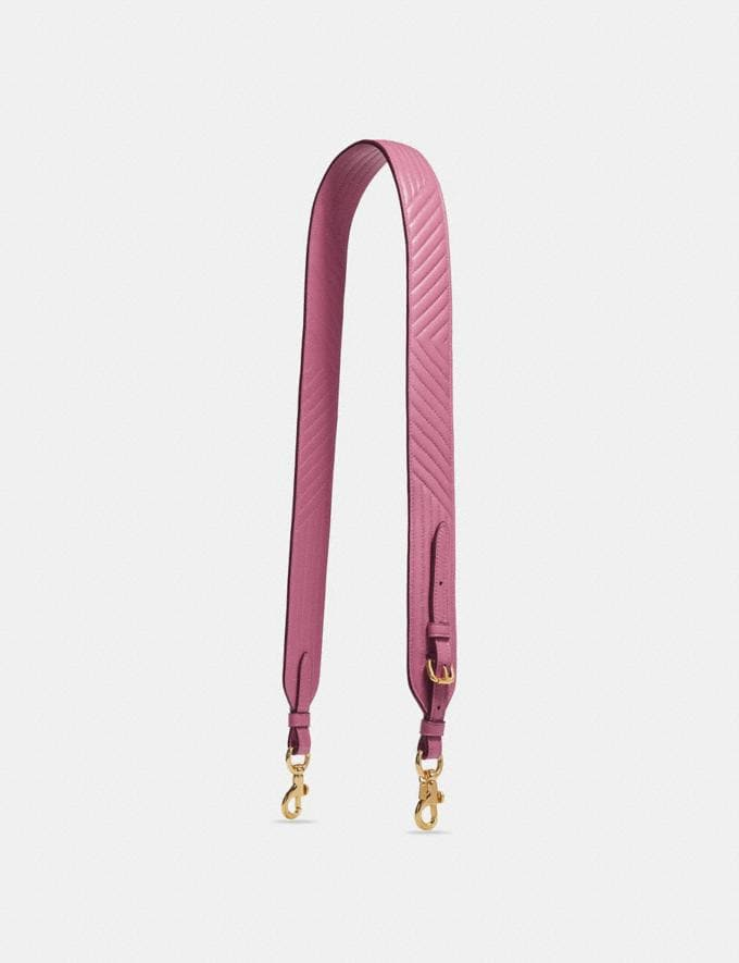 Coach Strap With Quilting Rose/Light Gold Coach Reserve Coach Reserve