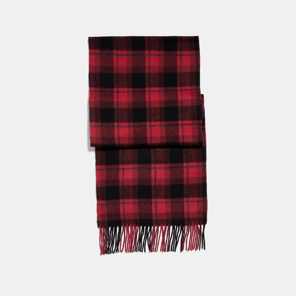 Coach Storypatch Plaid Scarf