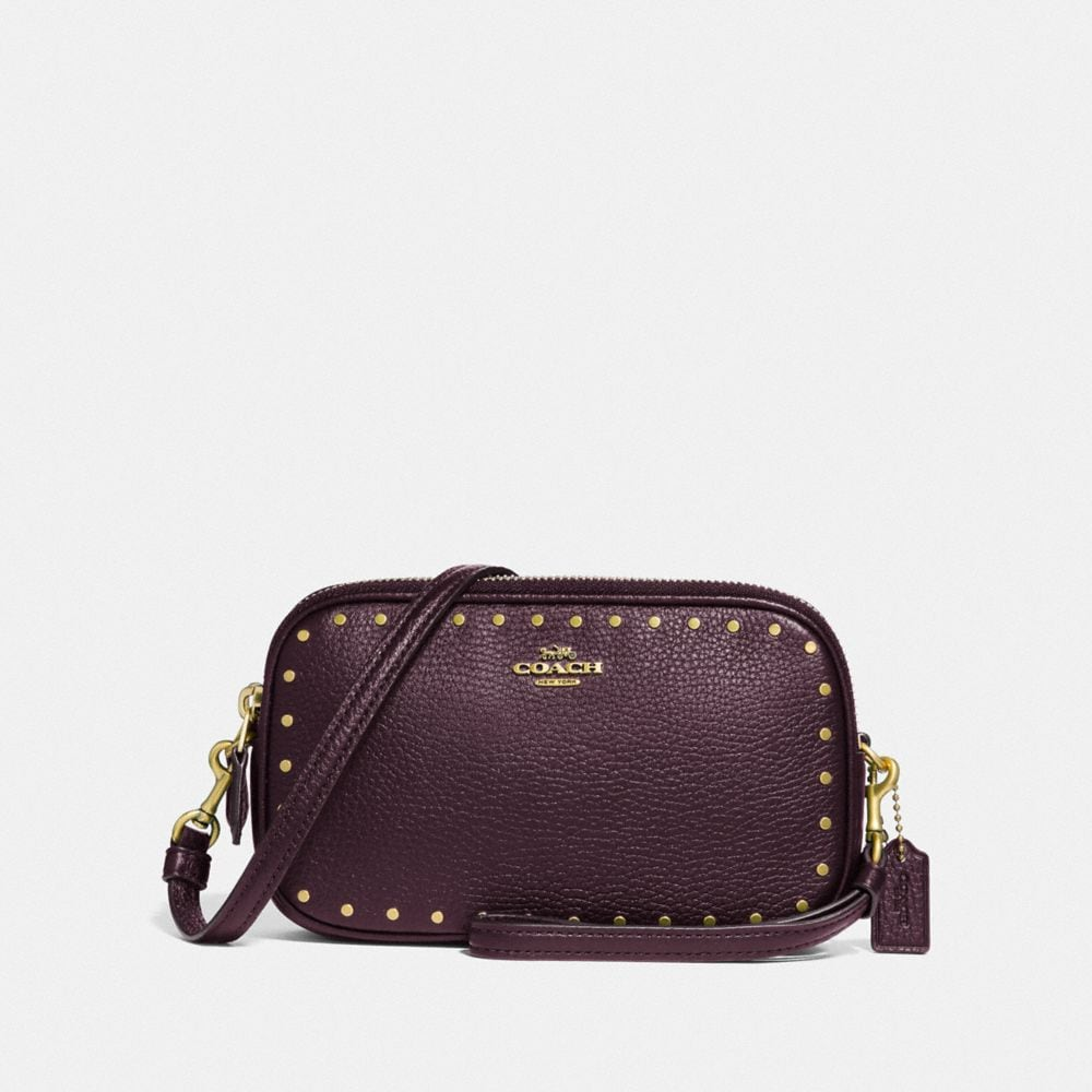 Coach Sadie Crossbody Clutch With Rivets