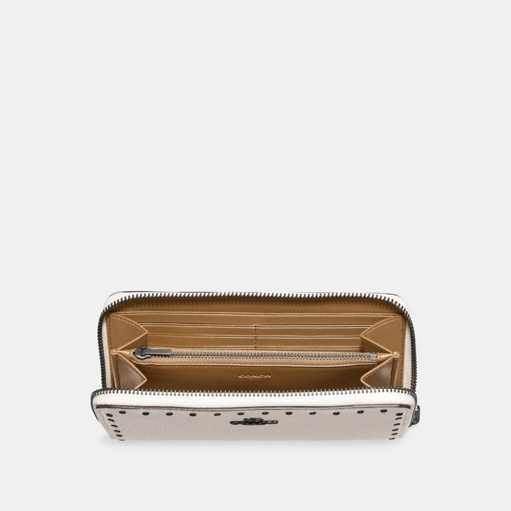 Coach Accordion Zip Wallet With Rivets Alternate View 1