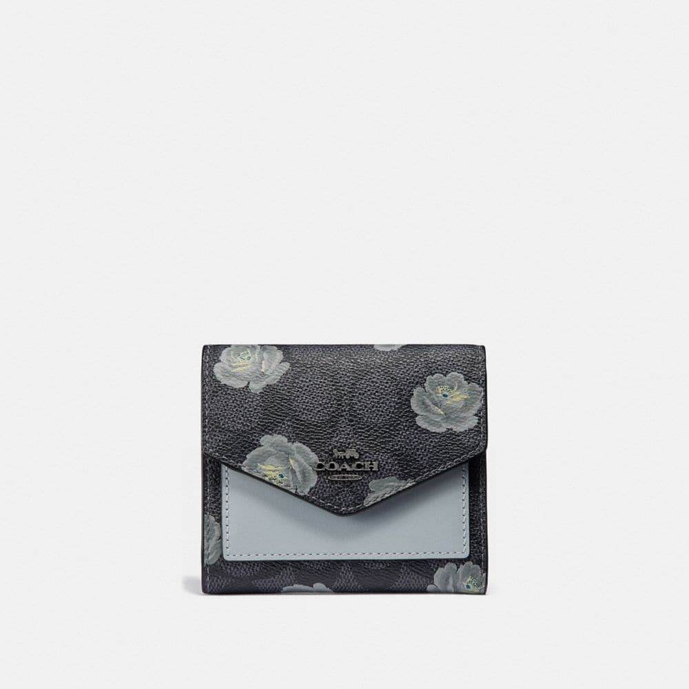 Coach Small Wallet in Signature Rose Print