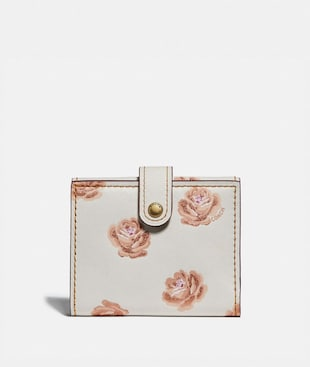 SMALL TRIFOLD WALLET WITH ROSE PRINT