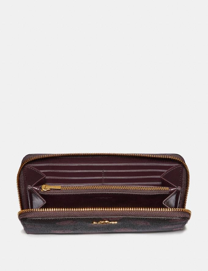 Coach Accordion Zip Wallet With Rose Print Oxblood Rose Print/Gold New Featured Online Exclusives Alternate View 1