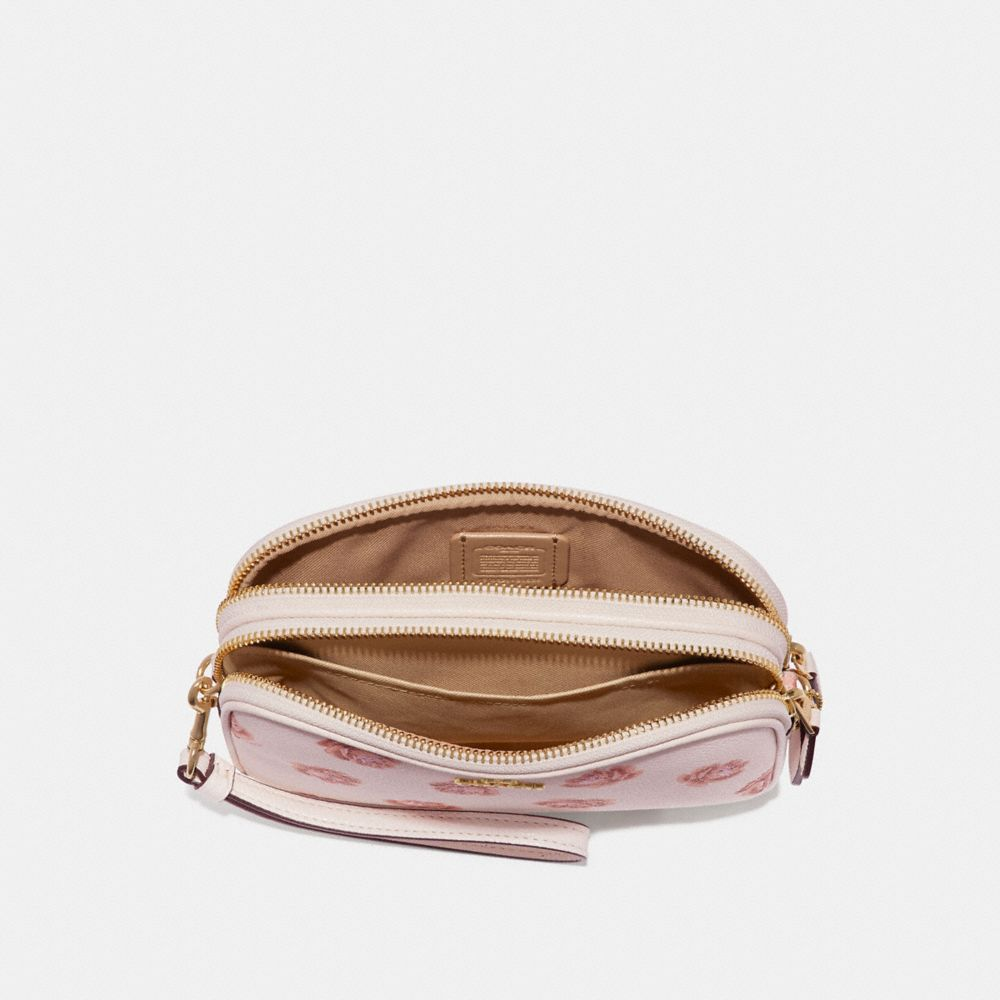 Coach Crossbody Clutch With Rose Print Alternate View 2