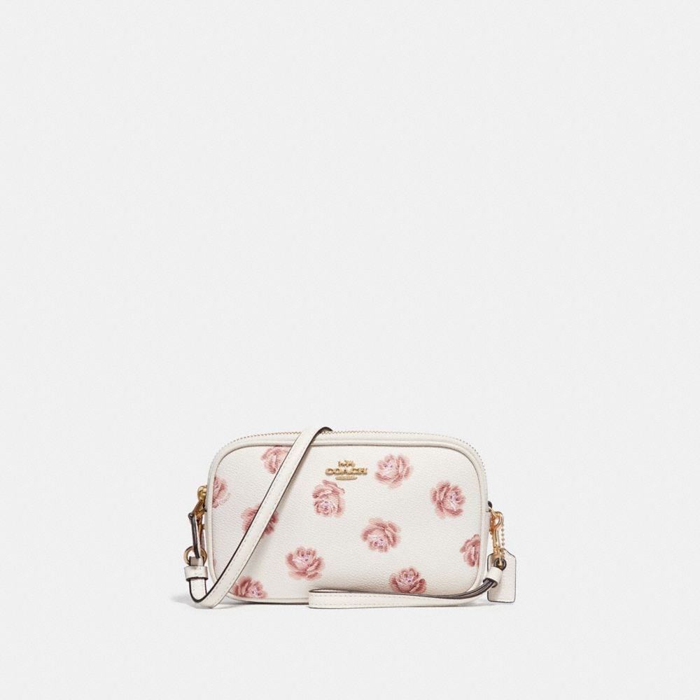 Coach Crossbody Clutch With Rose Print