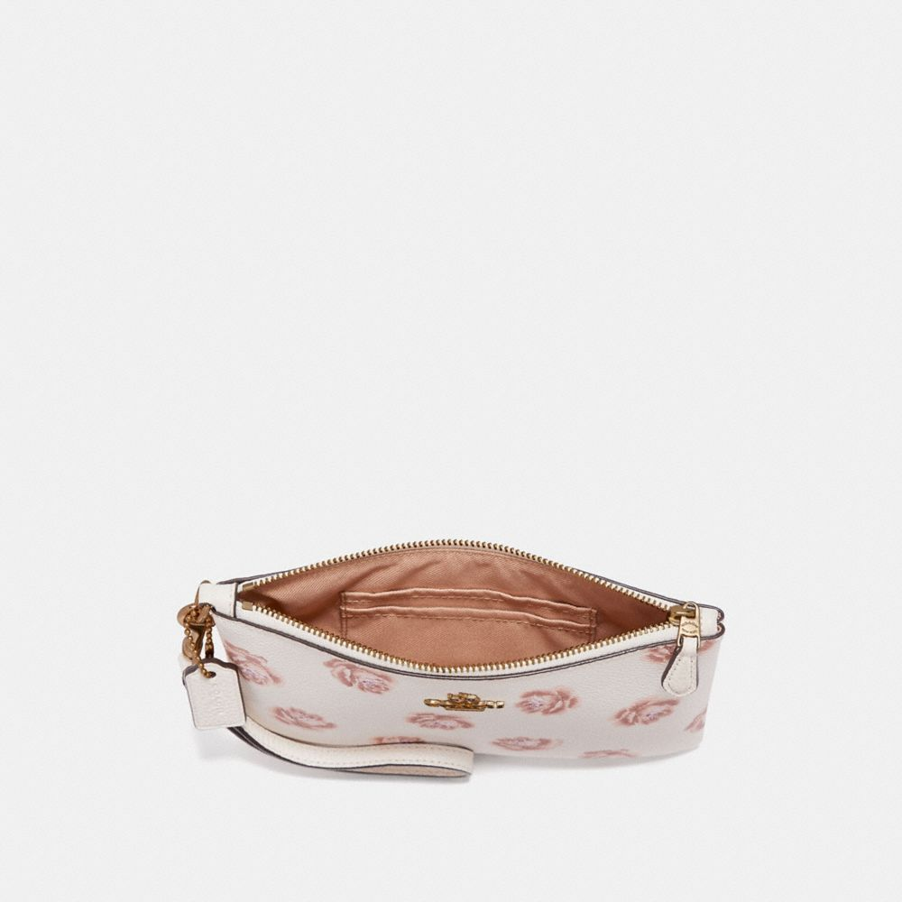 Coach Small Wristlet With Rose Print Alternate View 1