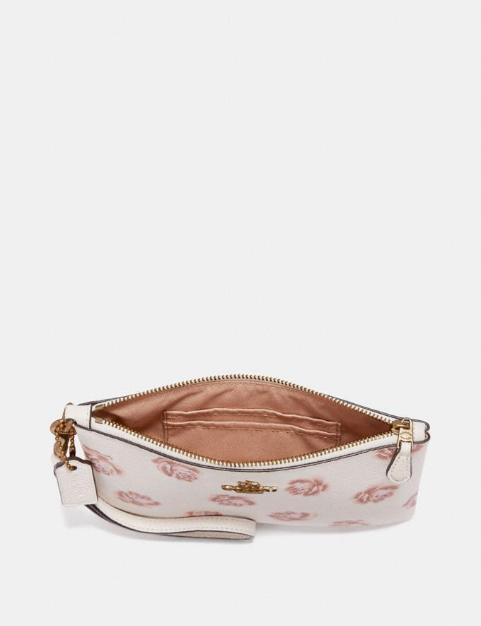 Coach Small Wristlet With Rose Print Oxblood Rose Print/Gold SALE Women's Sale 50% off Alternate View 1