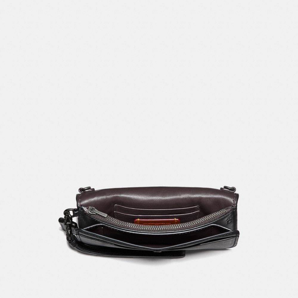 Coach Clutch With Leather Sequin Alternate View 1