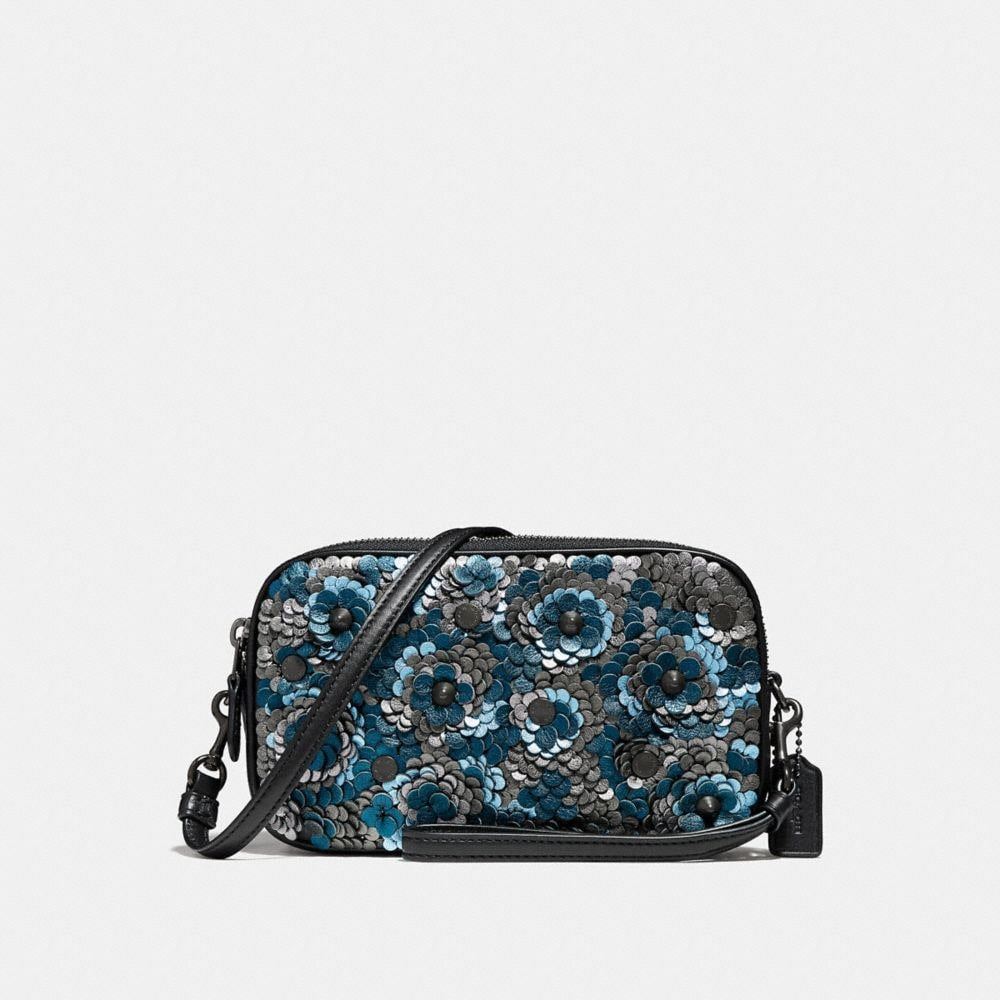sadie crossbody clutch with sequins