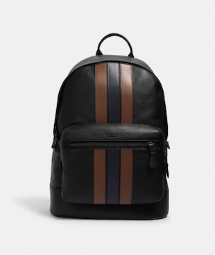 WEST BACKPACK WITH PIECED VARSITY STRIPE