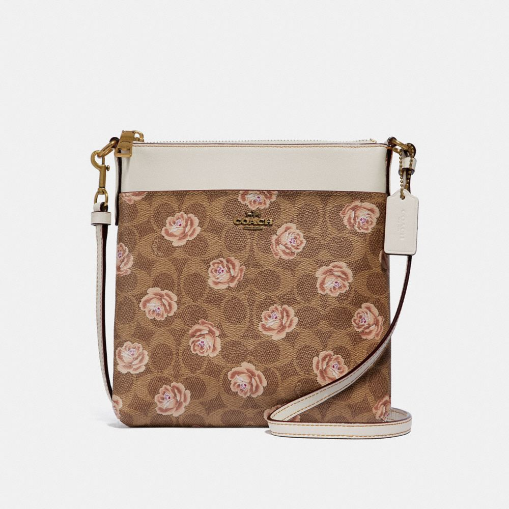 Coach Kitt Messenger Crossbody in Signature Rose Print