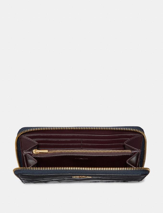 Coach Accordion Zip Wallet Light Gold/Black Women Wallets & Wristlets Alternate View 1