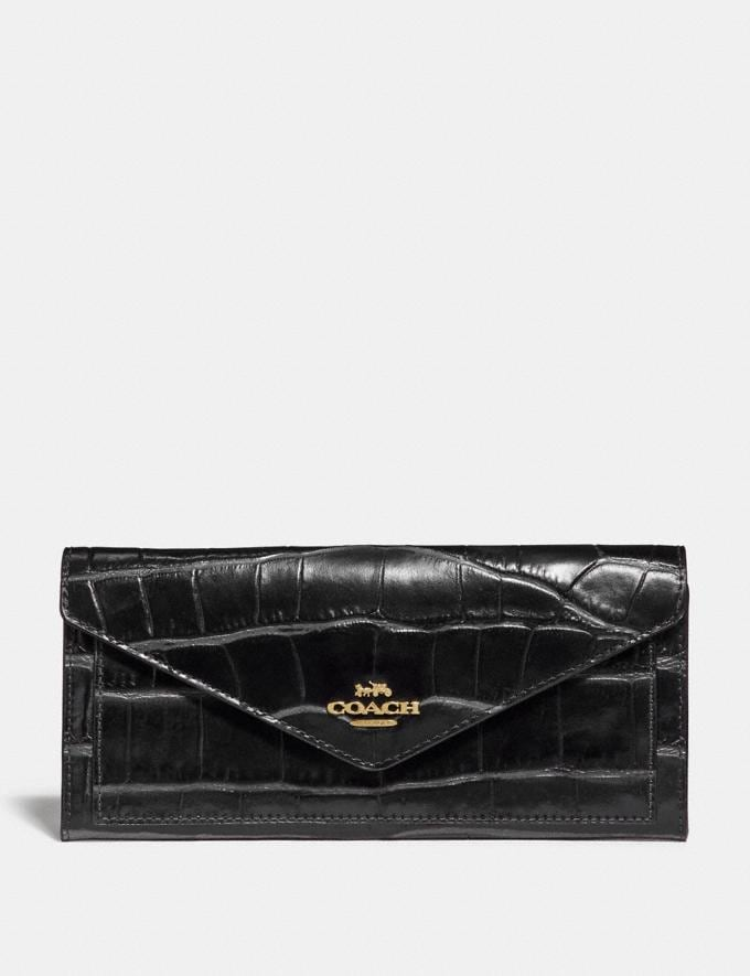 Coach Soft Wallet Gold/Black Gifts For Her Bestsellers