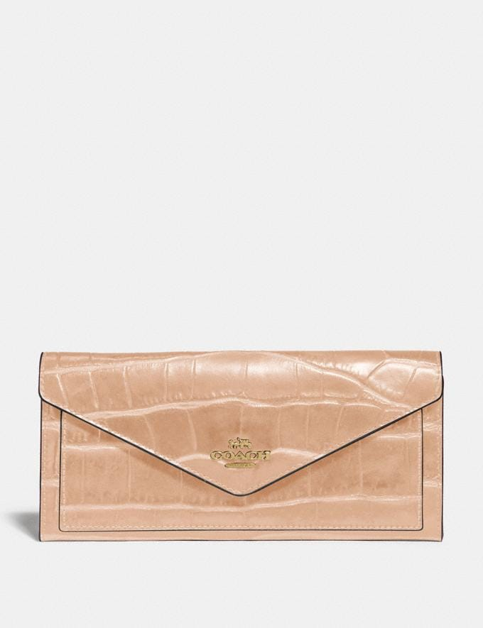 Coach Soft Wallet Gold/Black SALE For Her Wallets & Wristlets
