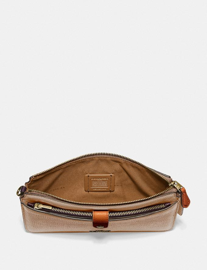 Coach Noa Pop-Up Messenger in Colorblock Brass/Taupe Ginger Multi Women Wallets & Wristlets Alternate View 1