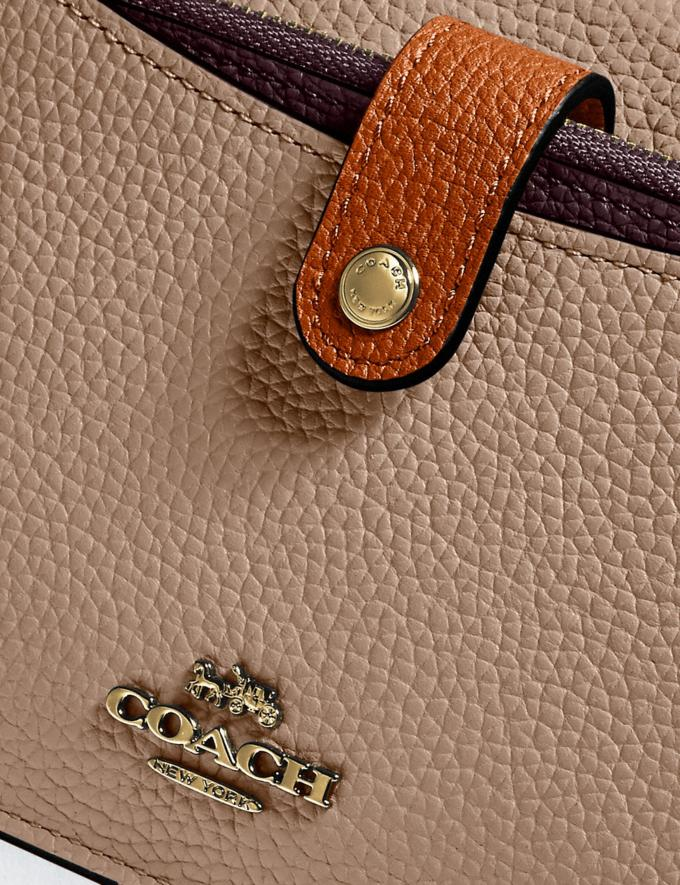 Coach Noa Pop-Up Messenger in Colorblock Brass/Taupe Ginger Multi Women Wallets & Wristlets Alternate View 3