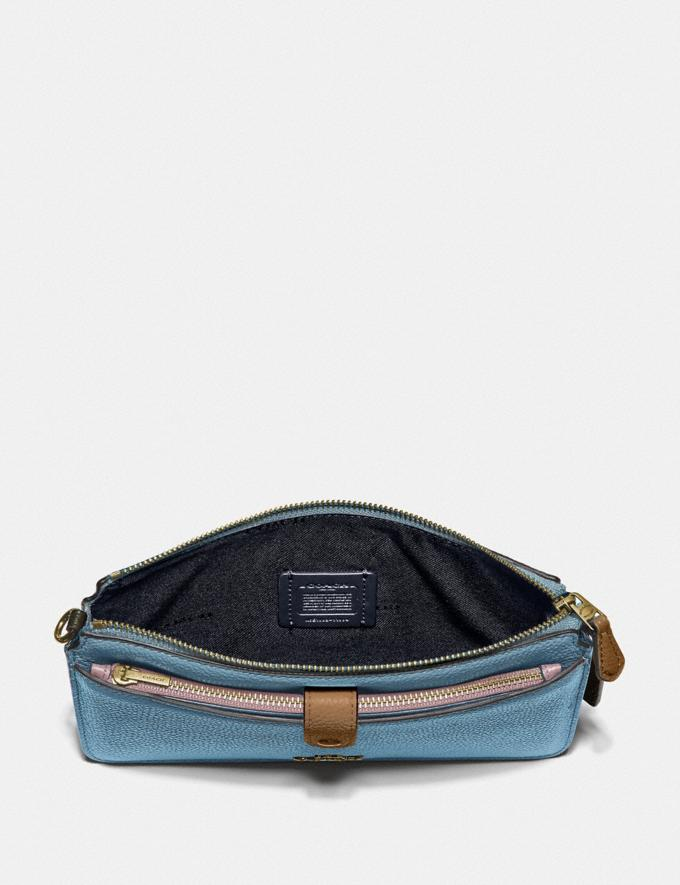 Coach Noa Pop-Up Messenger in Colorblock Brass/Pacific Blue Multi Gifts For Her Under $300 Alternate View 1