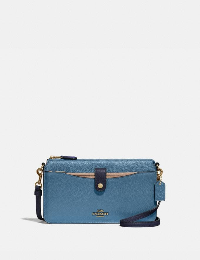 Coach Noa Pop-Up Messenger in Colorblock Brass/Lake Multi Gifts For Her Under $300