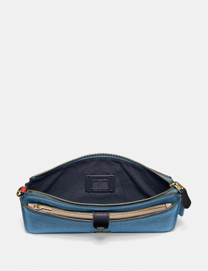 Coach Noa Pop-Up Messenger in Colorblock Brass/Lake Multi Gifts For Her Under $300 Alternate View 2