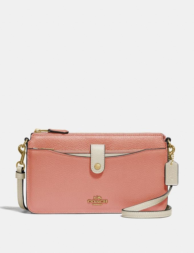 Coach Noa Pop-Up Messenger in Colorblock Light Peach Multi/Gold Gifts For Her