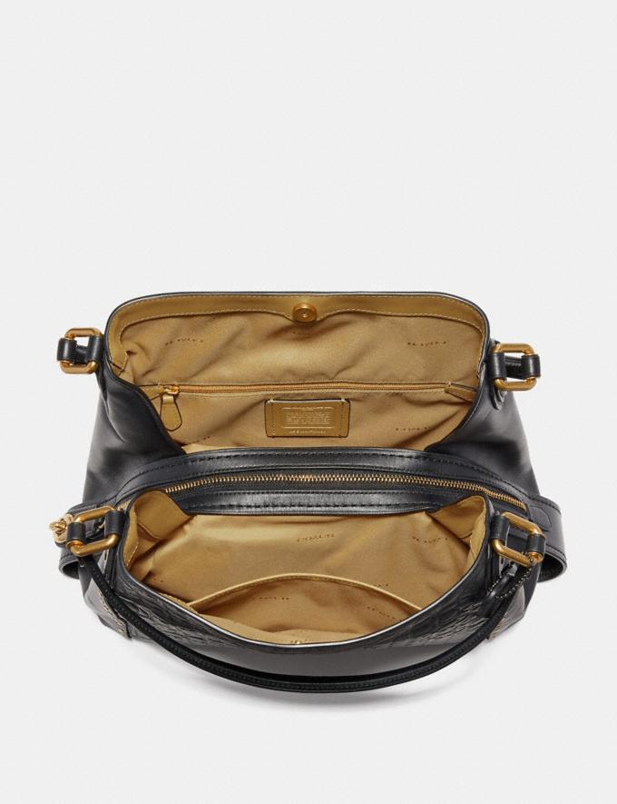 Coach Edie Shoulder Bag 31 in Signature Leather With Rivets Black Copper/Chalk New Featured Online-Only Alternate View 2