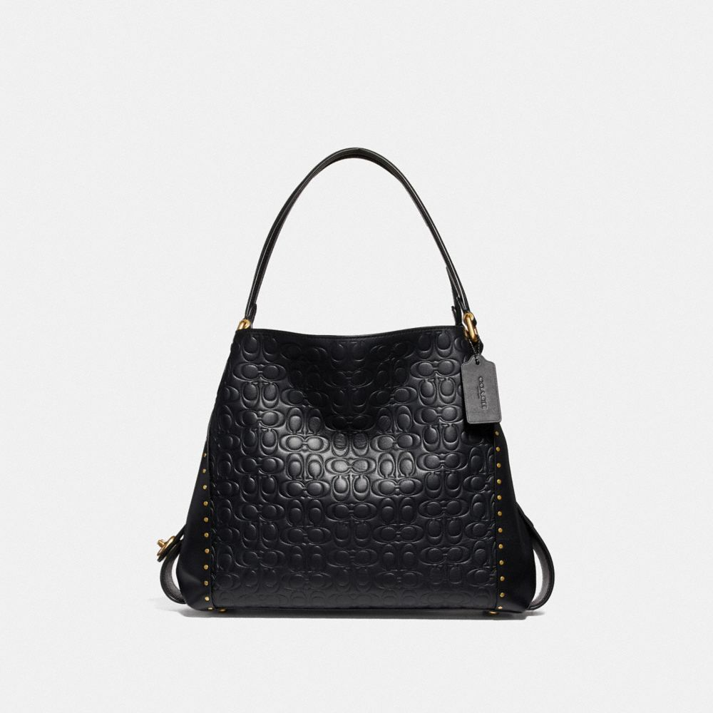 Coach Edie Shoulder Bag 31 in Signature Leather With Rivets
