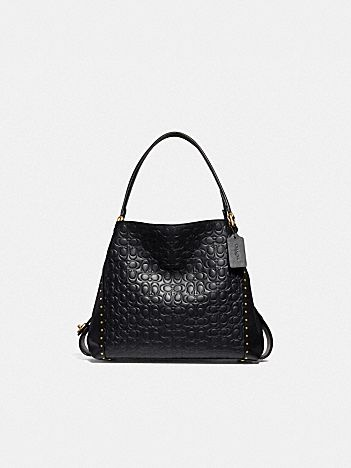 98fc52314f76c edie shoulder bag 31 in signature leather with rivets