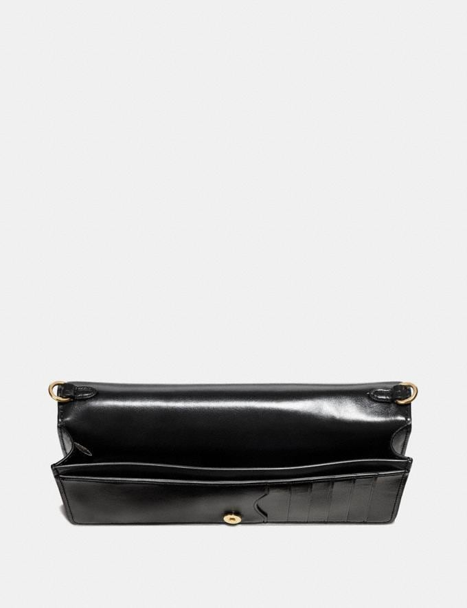 Coach Slim Phone Crossbody Black/Light Gold Women Bags Crossbody Bags Alternate View 1