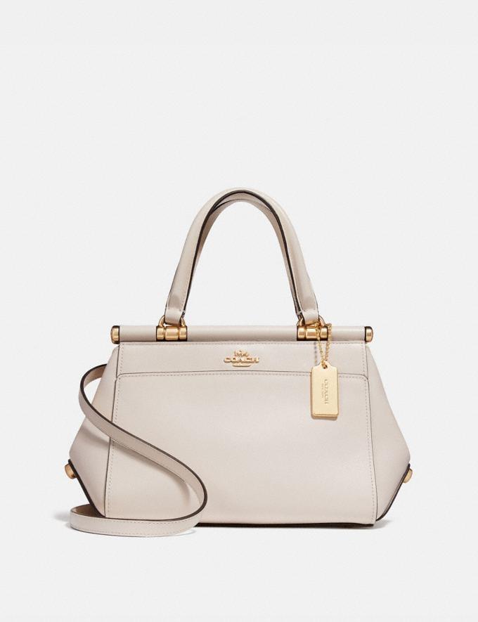Coach Grace Bag 20 Chalk/Light Gold Women Bags Crossbody Bags