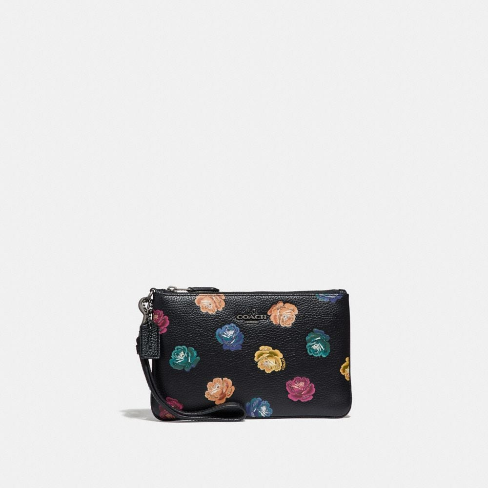 SMALL WRISTLET WITH RAINBOW ROSE PRINT