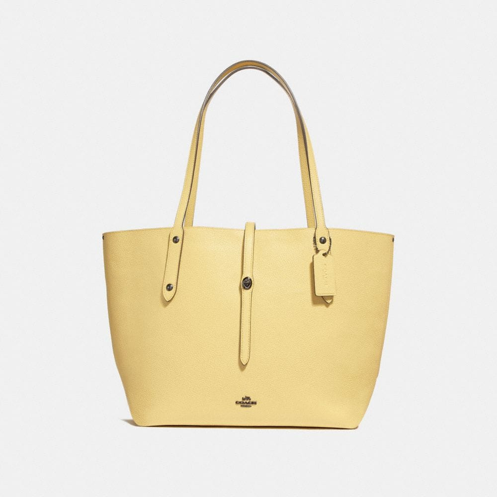 Coach Market Tote With Floral Bow Print Interior