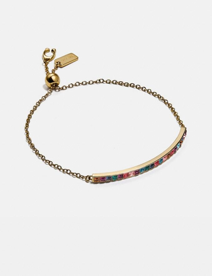 Coach Legacy Rainbow Slider Bracelet Gd/Legacy Multi Women Accessories Jewellery Bracelets