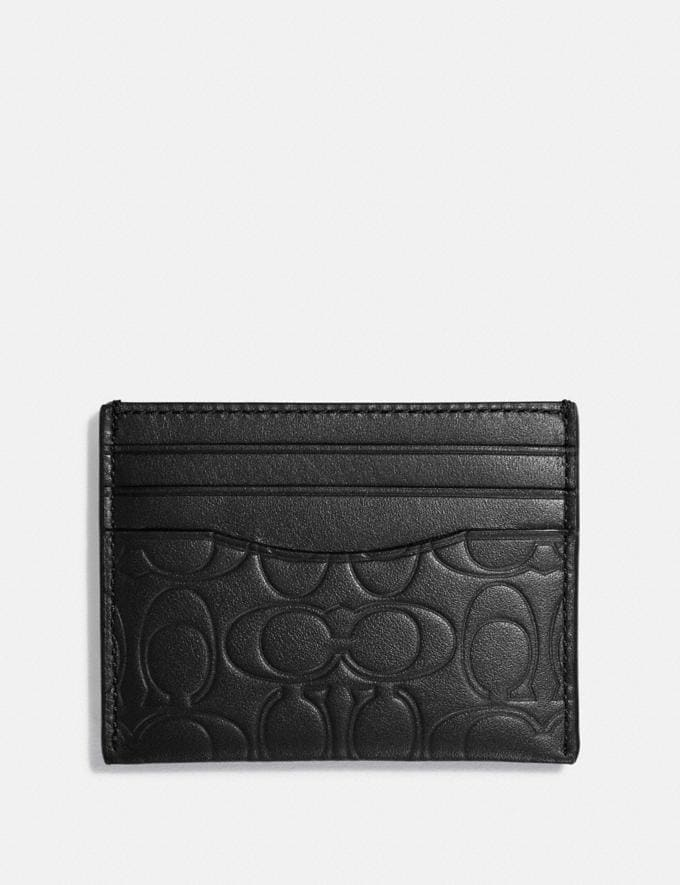 Coach Card Case in Signature Leather Black Gift For Him Under €100