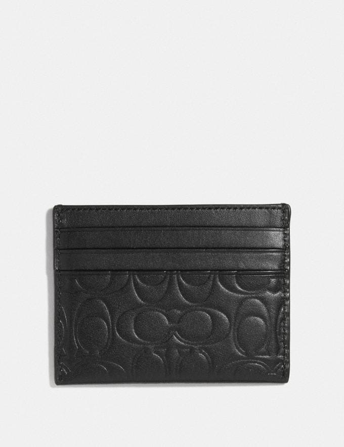 Coach Card Case in Signature Leather Midnight Men Wallets Card Cases Alternate View 1