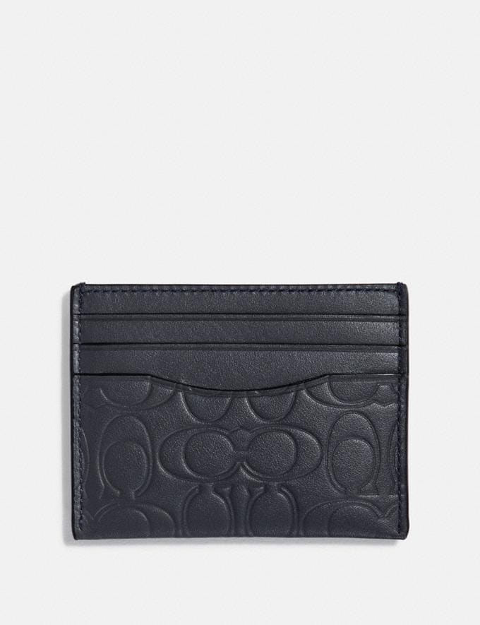 Coach Card Case in Signature Leather Midnight Men Edits Work