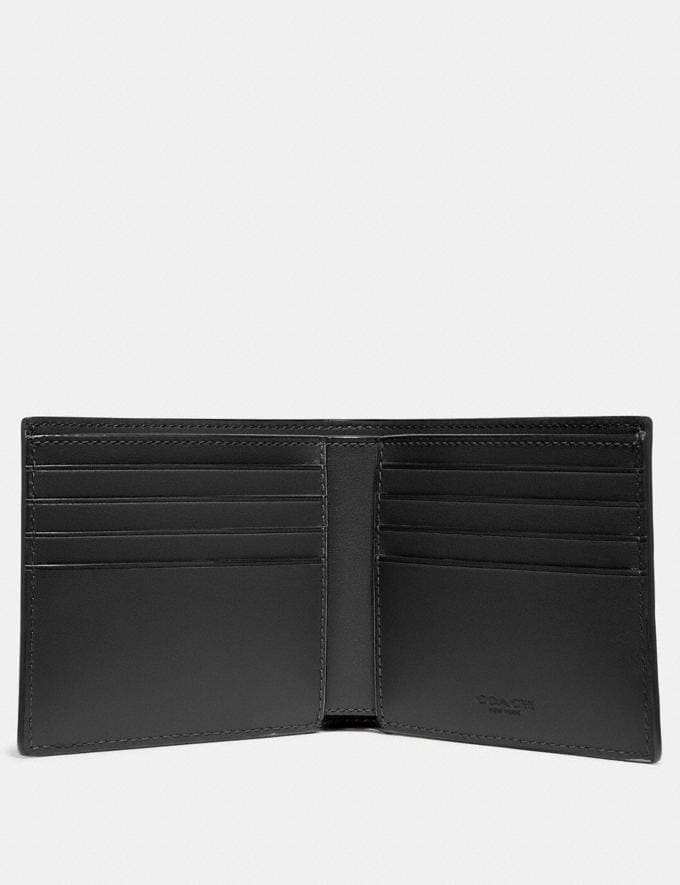 Coach Double Billfold Wallet in Signature Leather Black Gift Holiday Shop Stocking Fillers For Him Alternate View 1
