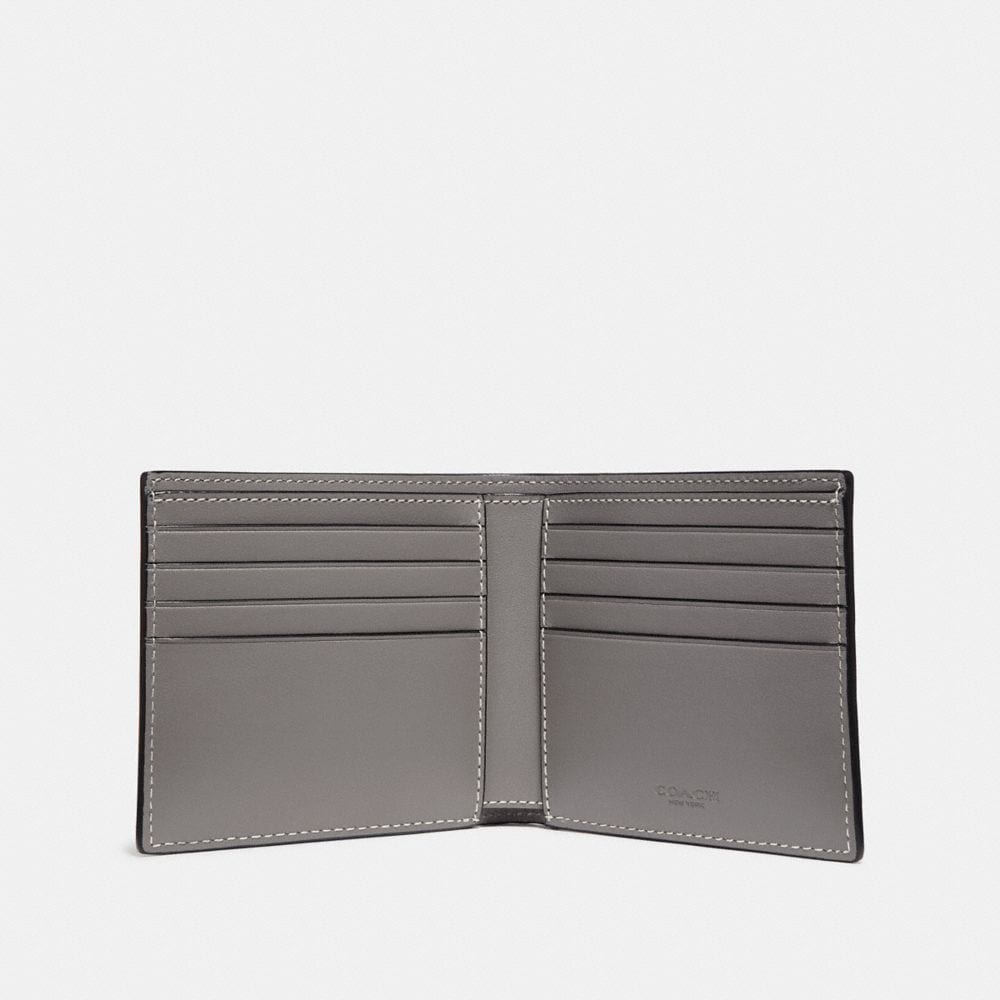 Coach Double Billfold Wallet in Signature Leather Alternate View 1