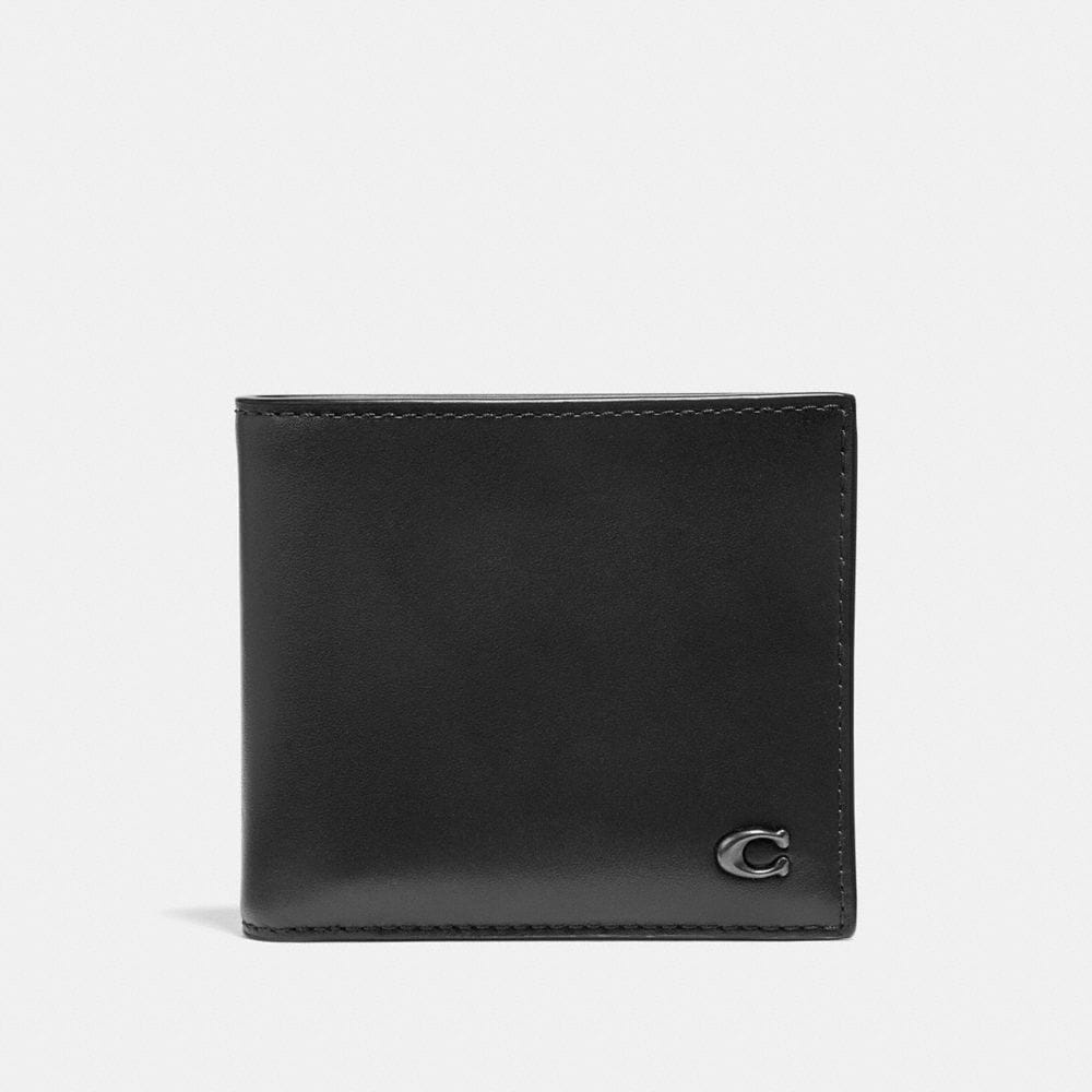 Coach Double Billfold Wallet With Signature Hardware