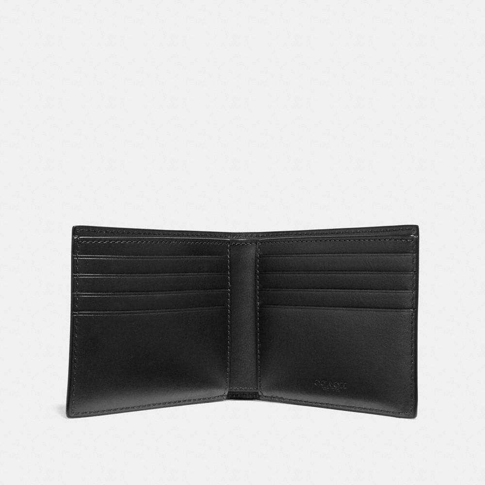 Coach Double Billfold Wallet With Signature Hardware Alternate View 1