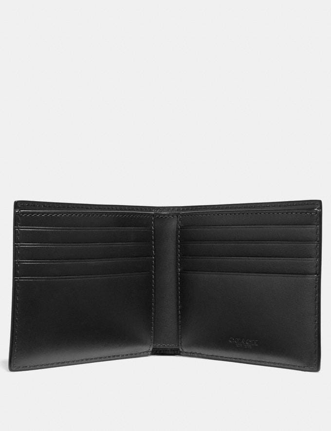 Coach Double Billfold Wallet With Signature Hardware Black Gifts For Him Valentine's Gifts Alternate View 1